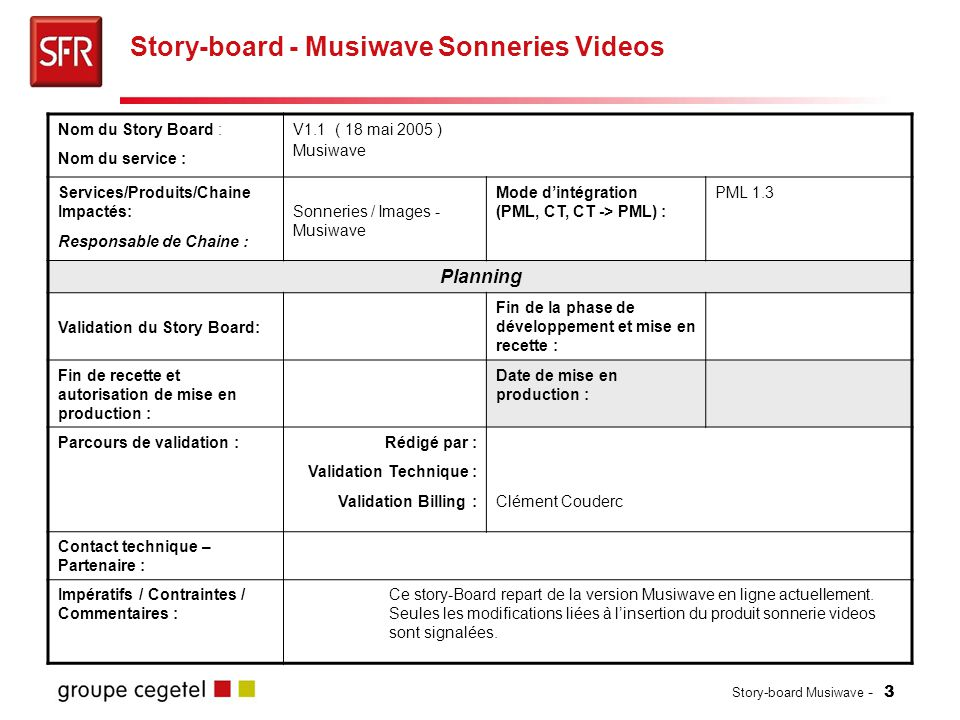 Story-board - Musiwave Sonneries Videos