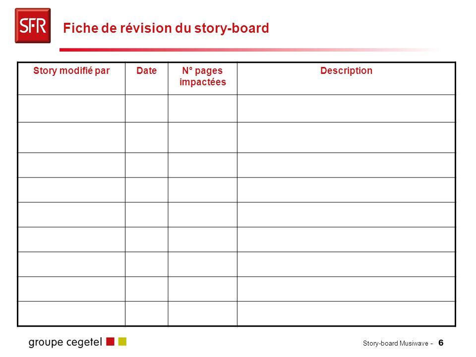 Fiche de révision du story-board
