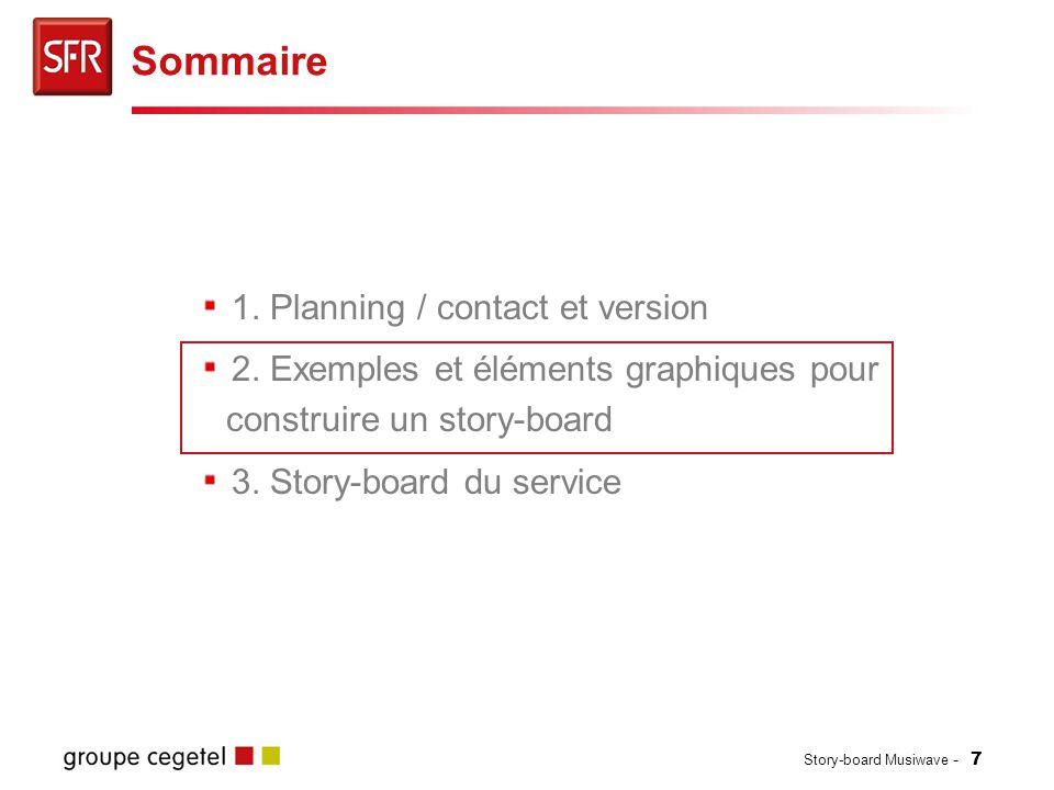Sommaire 1. Planning / contact et version