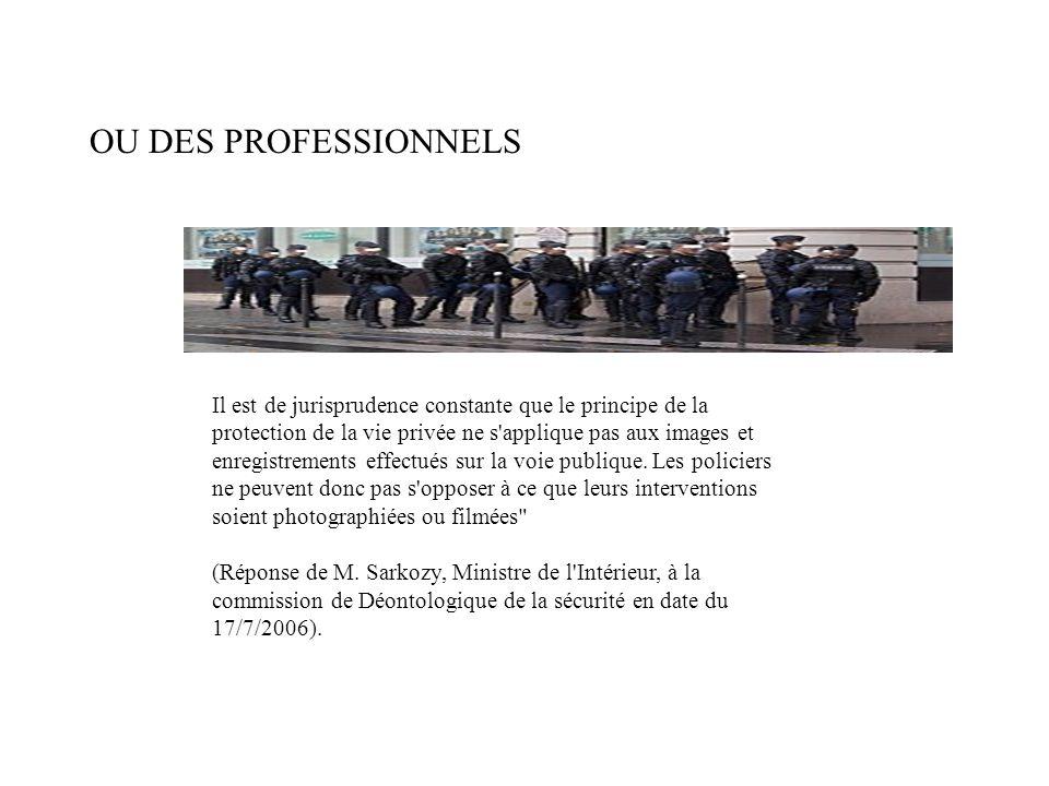 OU DES PROFESSIONNELS