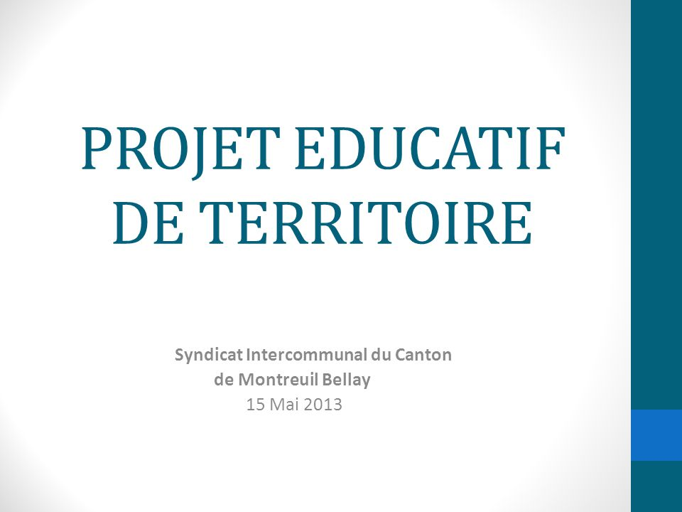 PROJET EDUCATIF DE TERRITOIRE