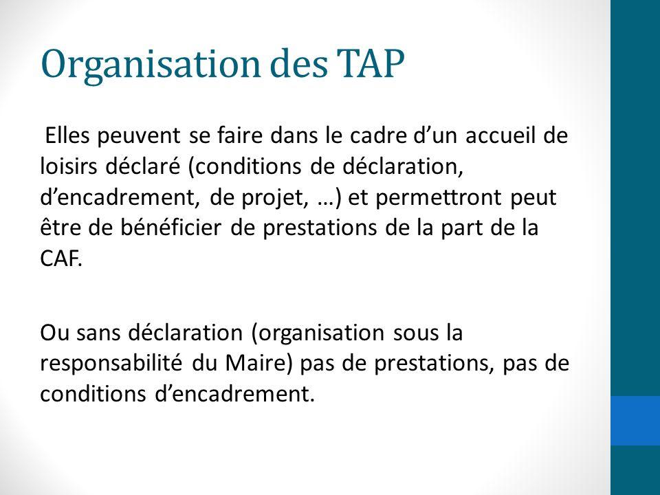 Organisation des TAP