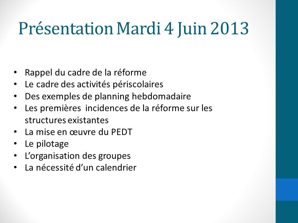 Présentation Mardi 4 Juin 2013