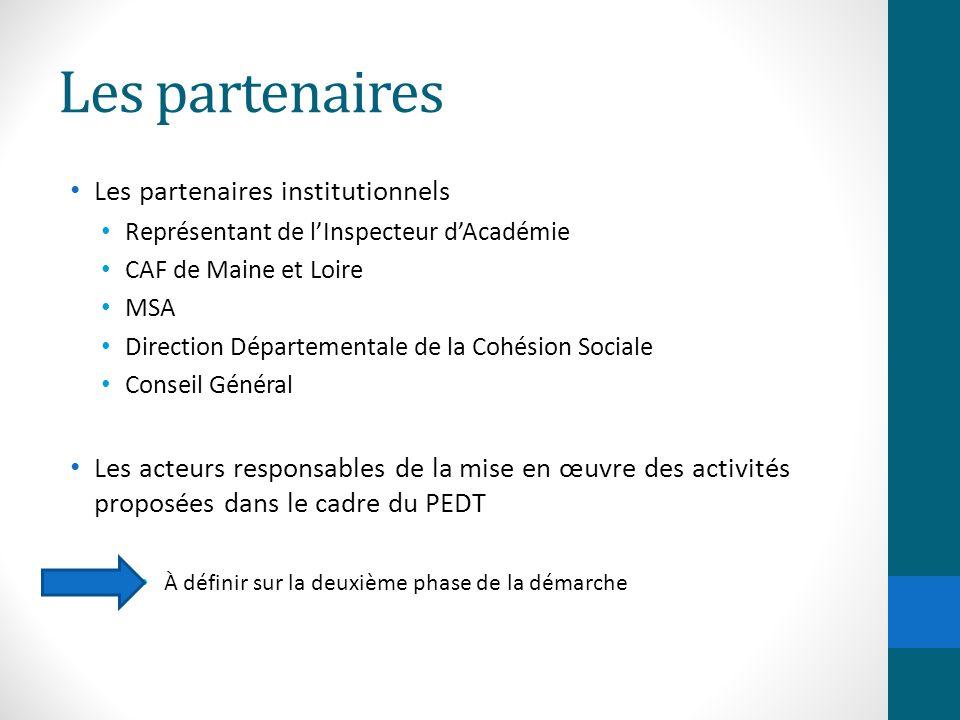 Les partenaires Les partenaires institutionnels