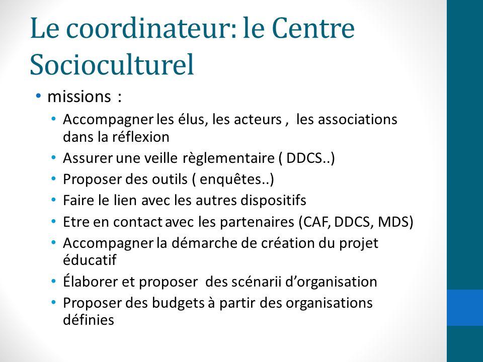 Le coordinateur: le Centre Socioculturel