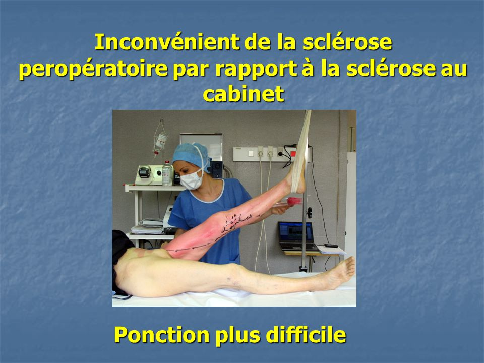 Ponction plus difficile