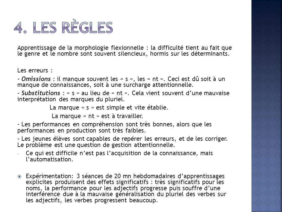 4. Les règles