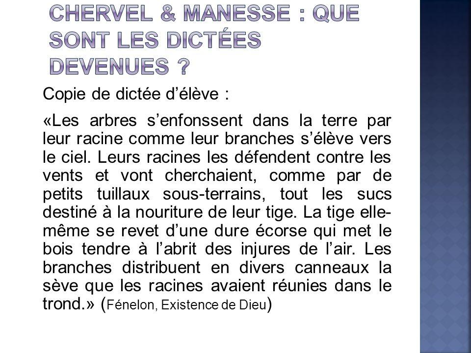 Chervel & Manesse : que sont les dictées devenues