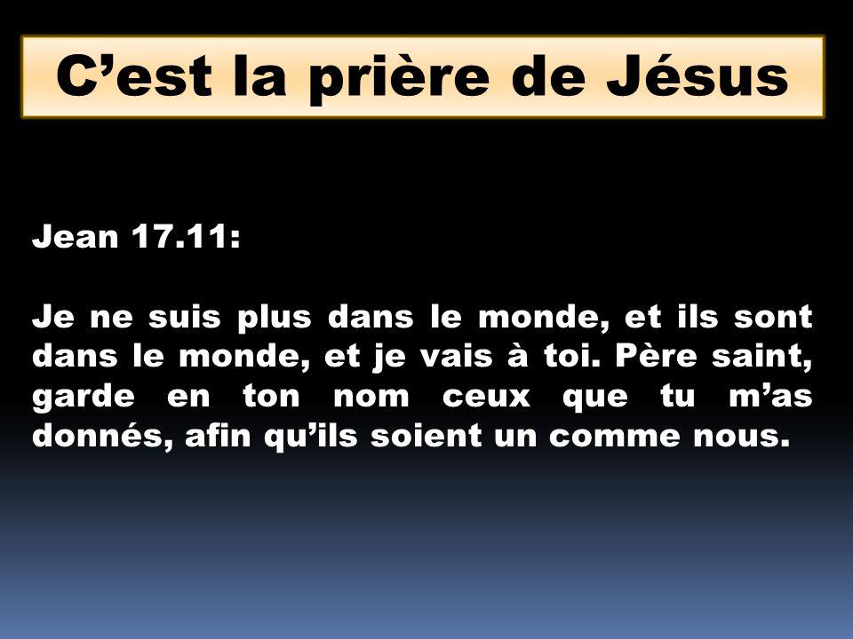 C'est la prière de Jésus