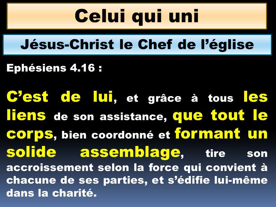 Jésus-Christ le Chef de l'église