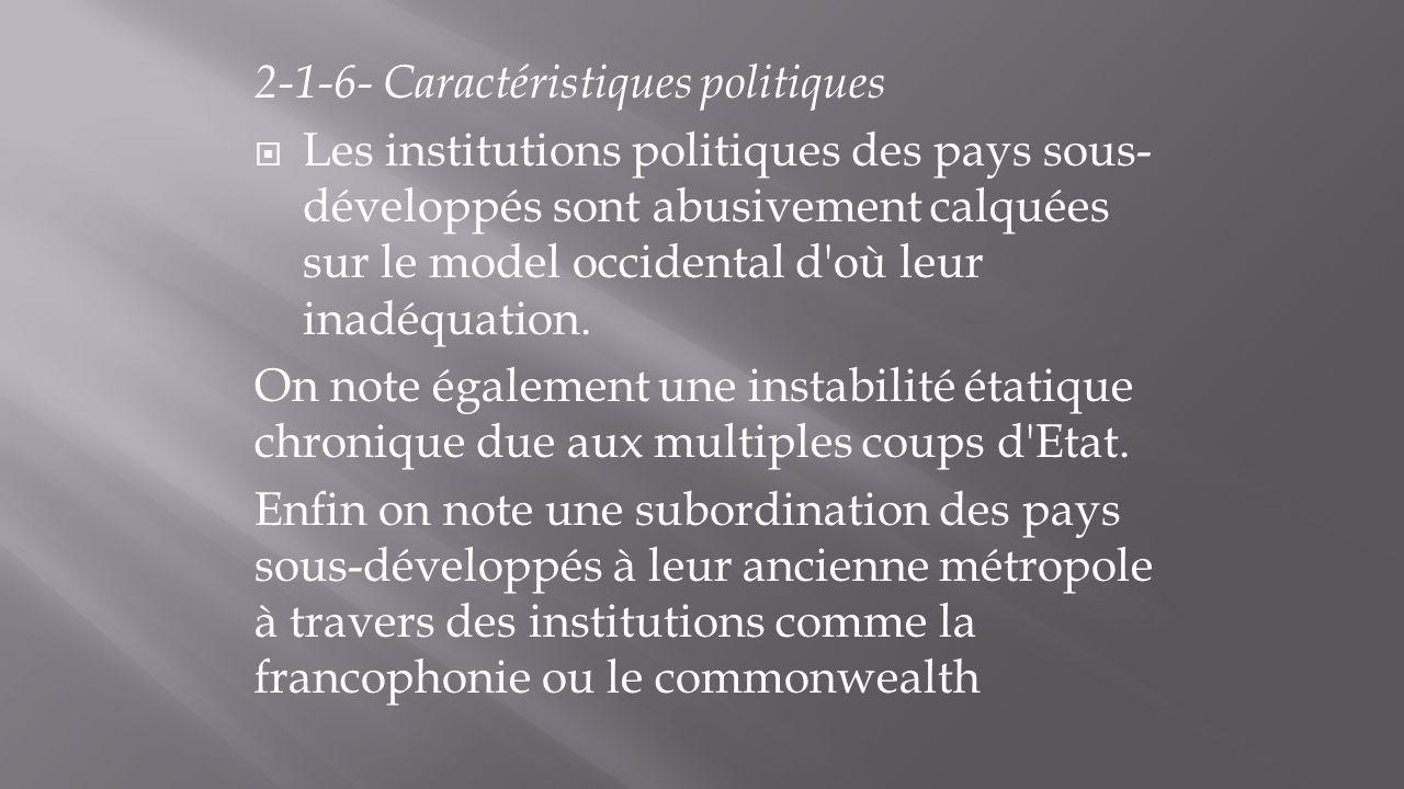 2-1-6- Caractéristiques politiques