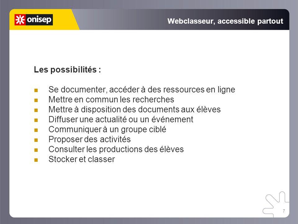 Webclasseur, accessible partout
