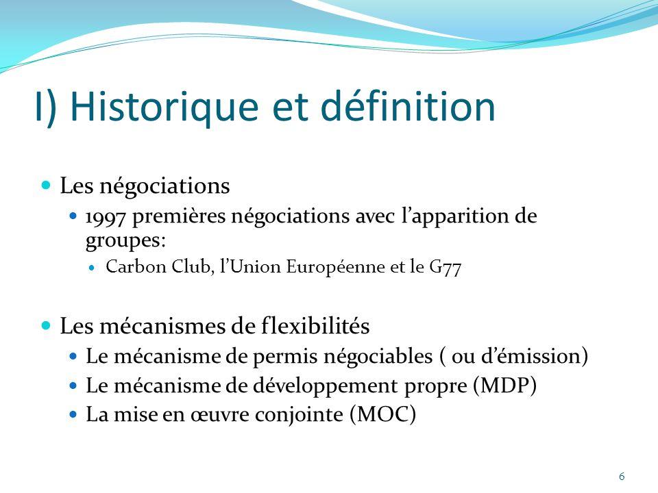 I) Historique et définition