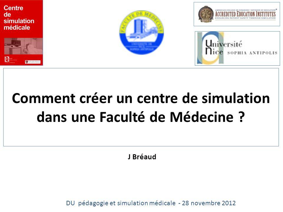 Comment créer un centre de simulation dans une Faculté de Médecine