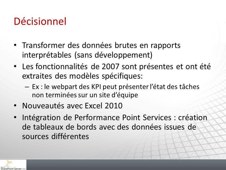 Décisionnel Transformer des données brutes en rapports interprétables (sans développement)