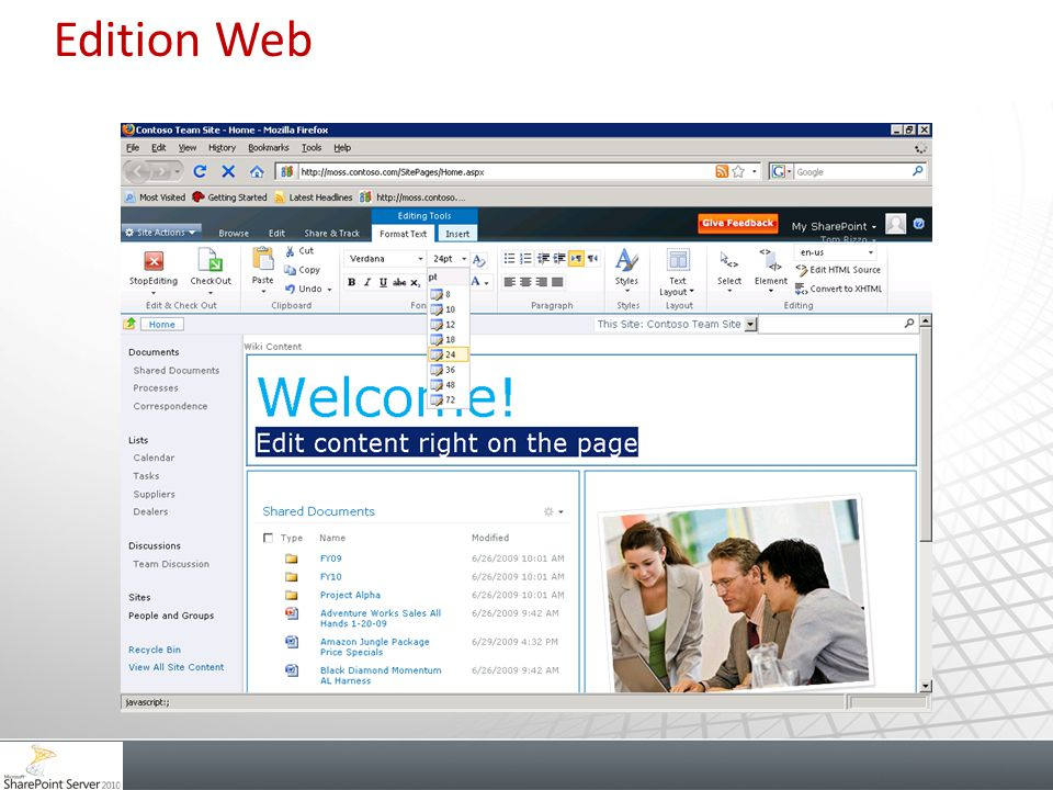 Edition Web Proche du mode Wiki Onglets d édition