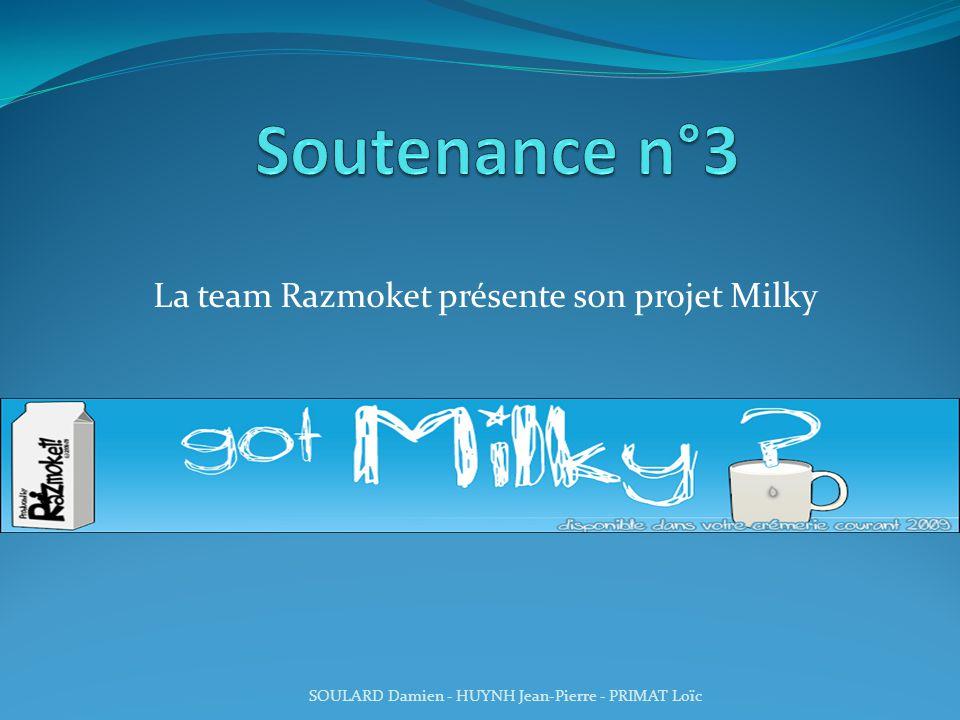 La team Razmoket présente son projet Milky
