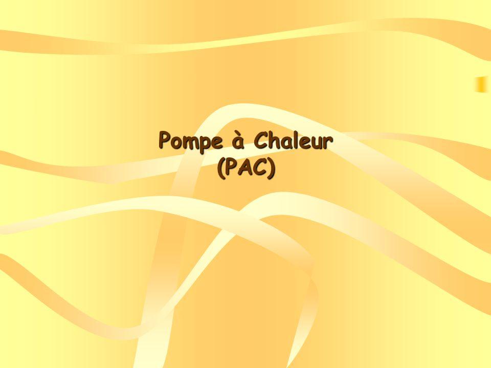 Pompe à Chaleur (PAC)