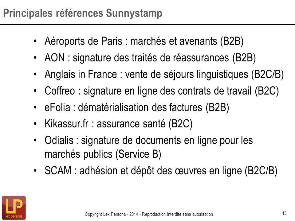 Principales références Sunnystamp