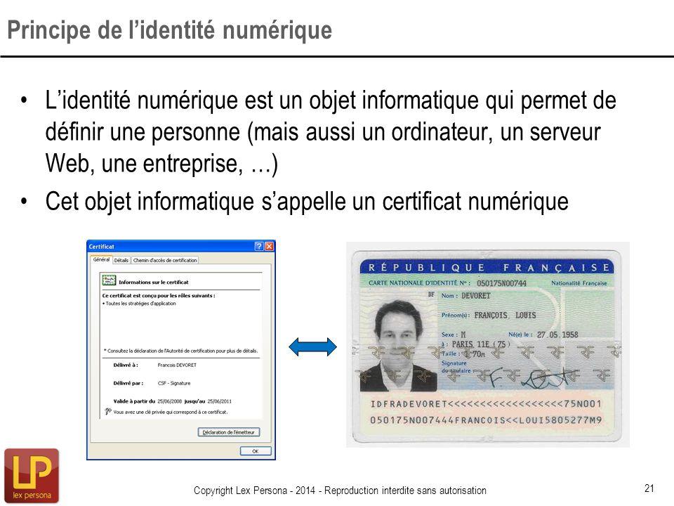 Principe de l'identité numérique