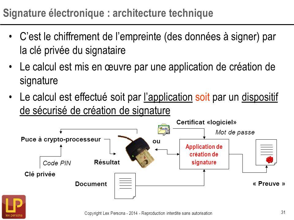Signature électronique : architecture technique