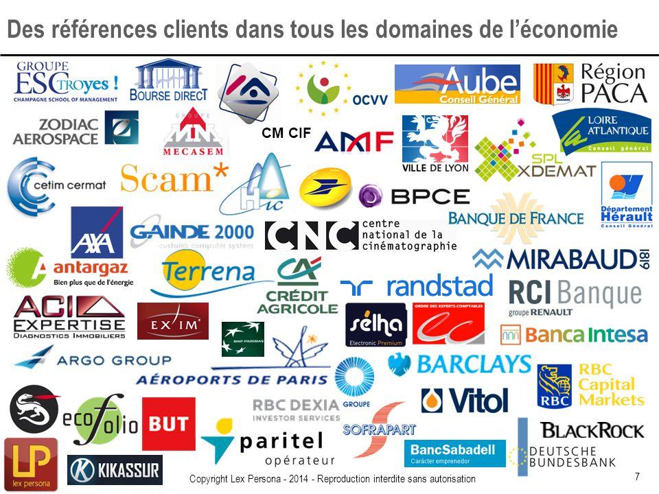 Des références clients dans tous les domaines de l'économie