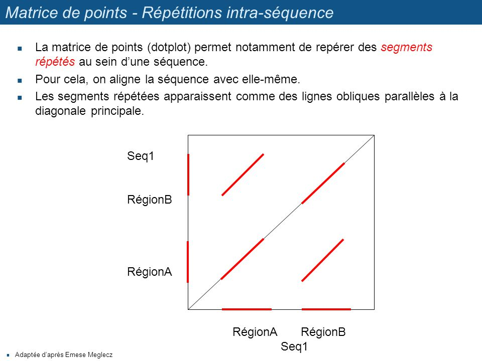 Matrice de points - Répétitions intra-séquence