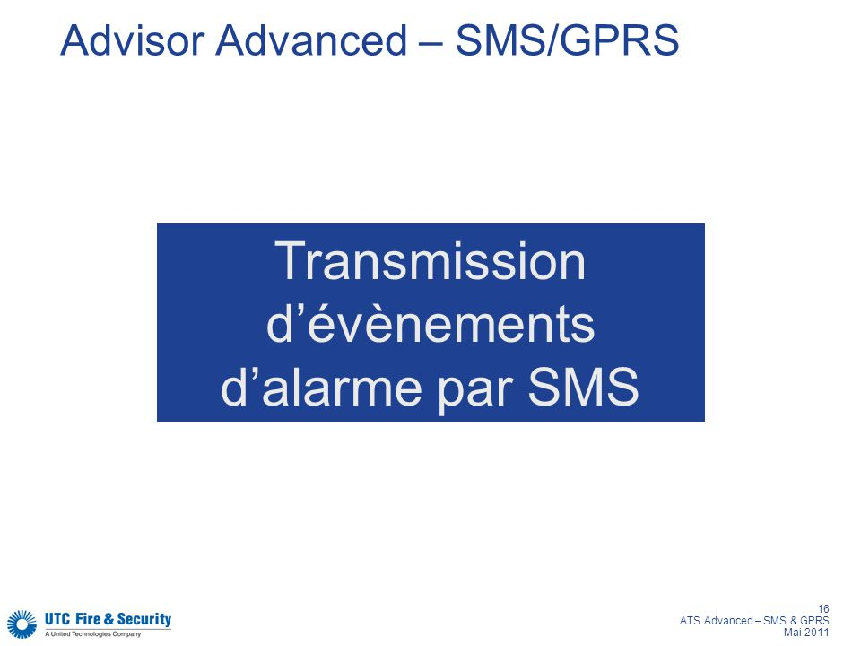 Advisor Advanced – SMS/GPRS