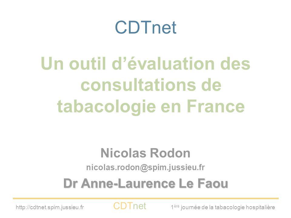 Un outil d'évaluation des consultations de tabacologie en France