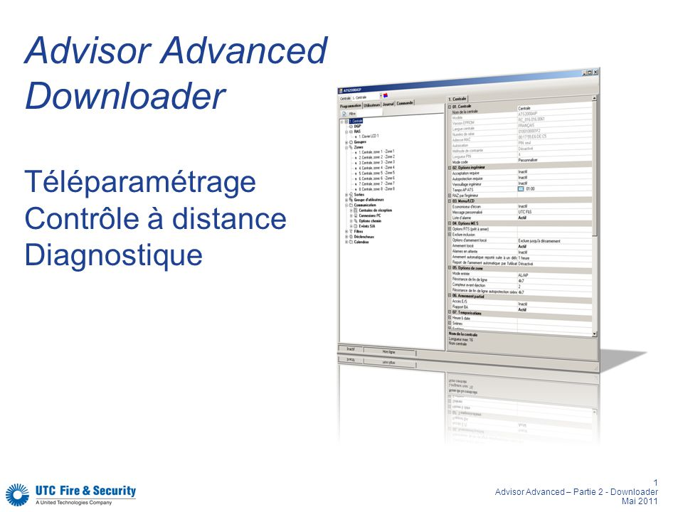 Advisor Advanced Downloader Téléparamétrage Contrôle à distance