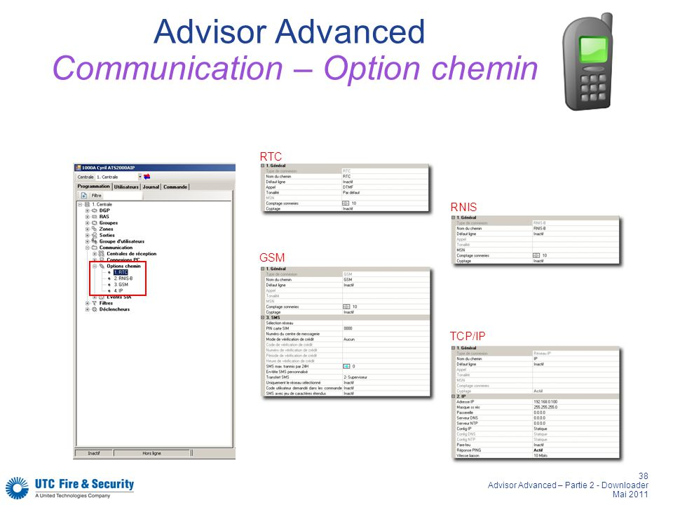 Advisor Advanced Communication – Option chemin