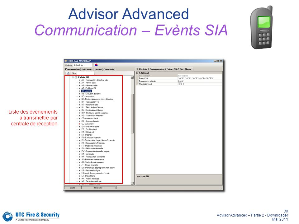Advisor Advanced Communication – Evènts SIA
