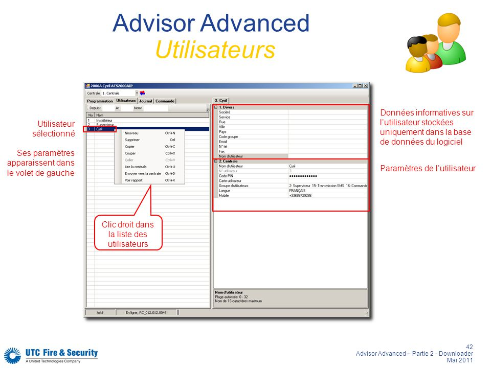 Advisor Advanced Utilisateurs