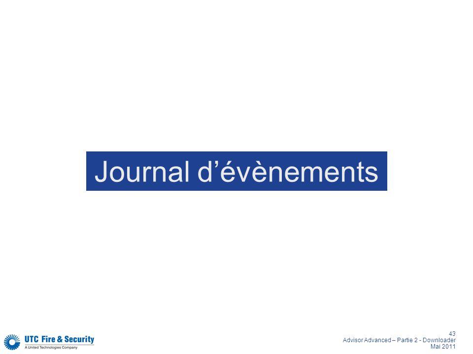 Journal d'évènements