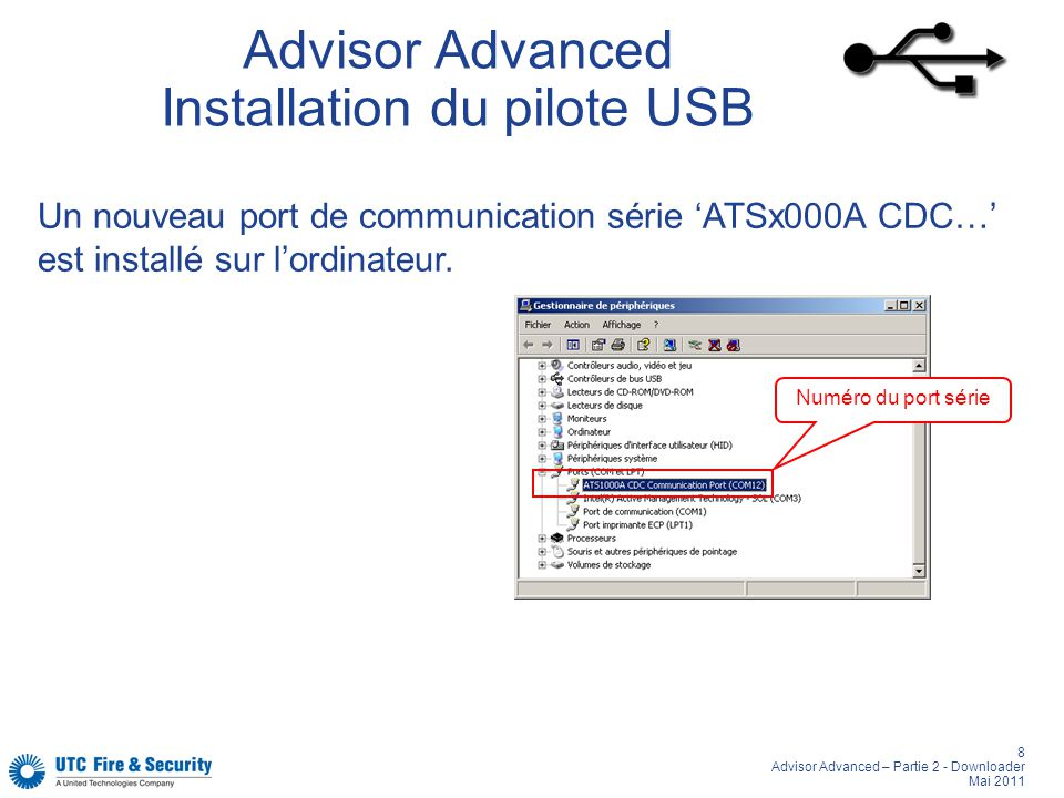 Advisor Advanced Installation du pilote USB