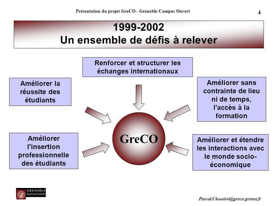 1999-2002 Un ensemble de défis à relever