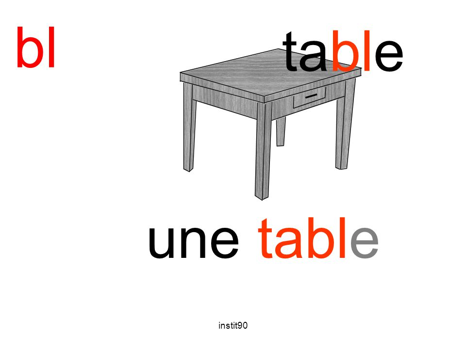 bl table une table instit90