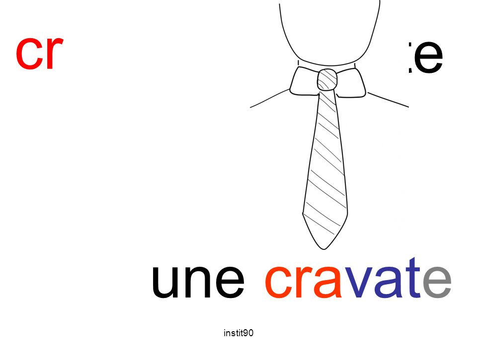 cr cravate une cravate instit90