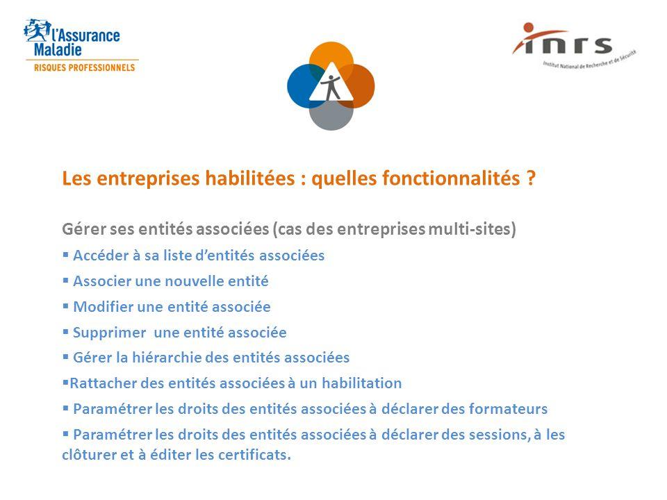 Les entreprises habilitées : quelles fonctionnalités
