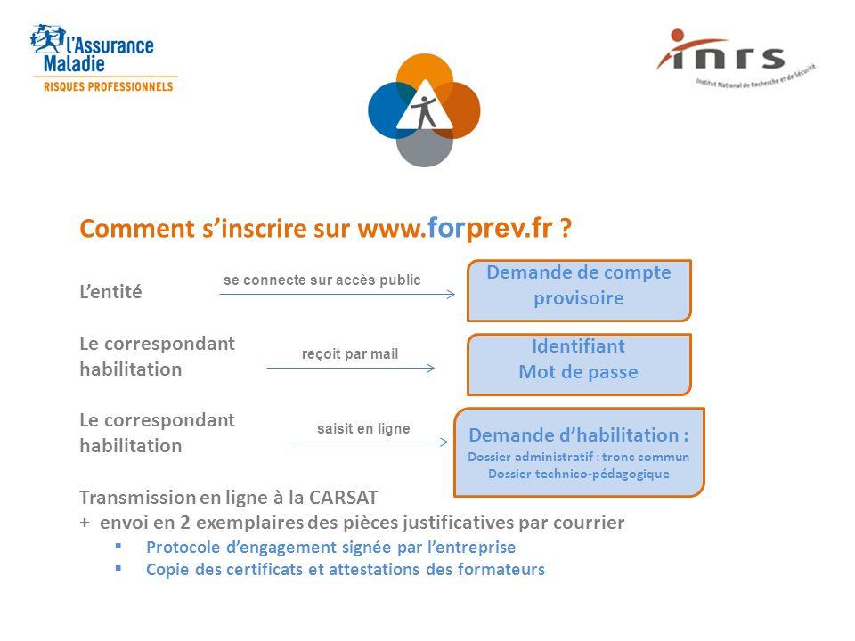 Comment s'inscrire sur www.forprev.fr