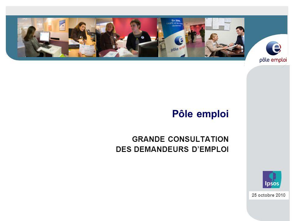 Pôle emploi GRANDE CONSULTATION DES DEMANDEURS D'EMPLOI