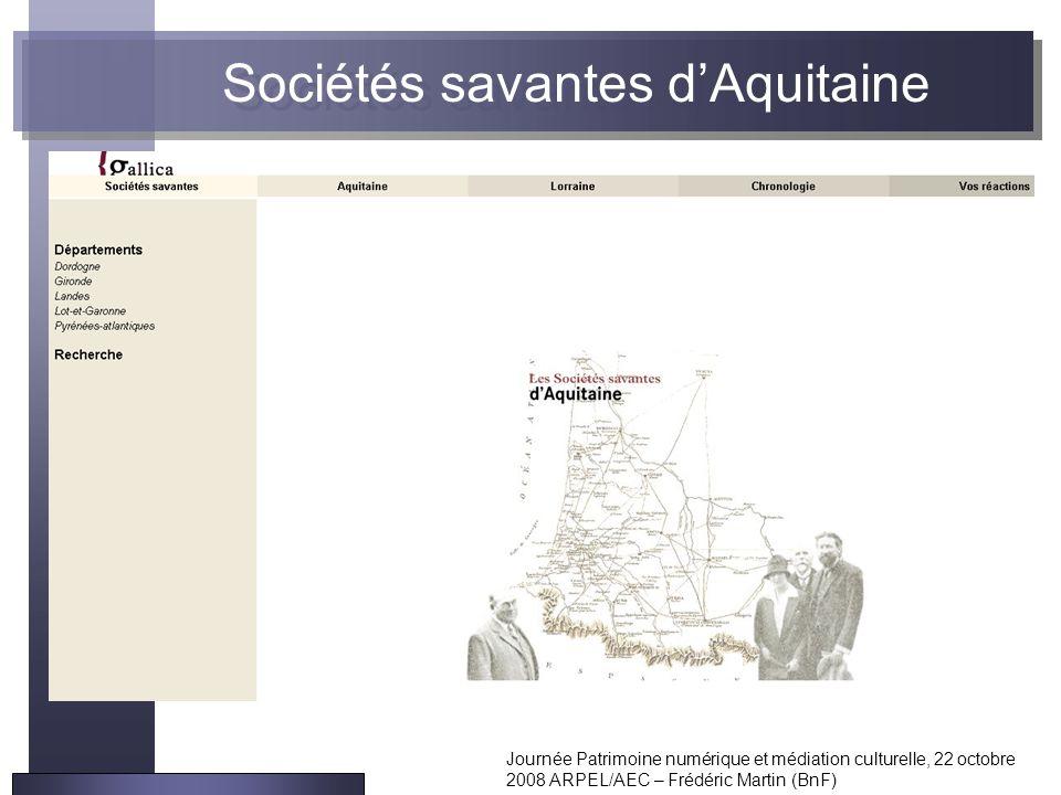 Sociétés savantes d'Aquitaine