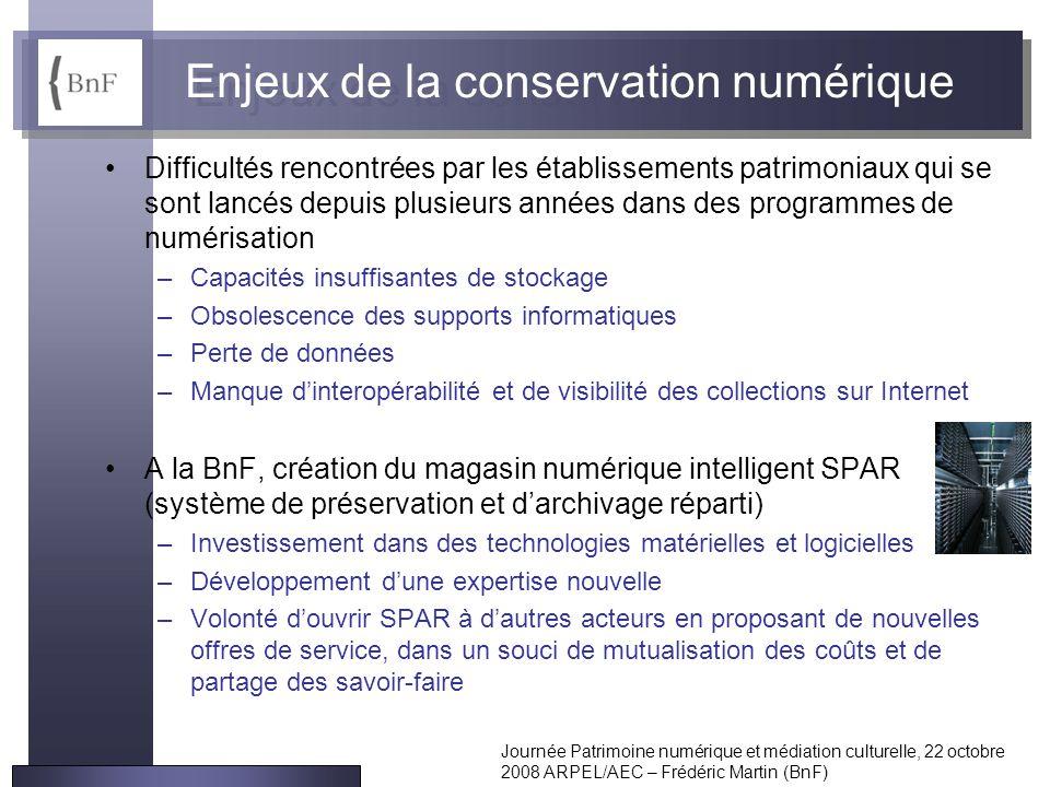 Enjeux de la conservation numérique