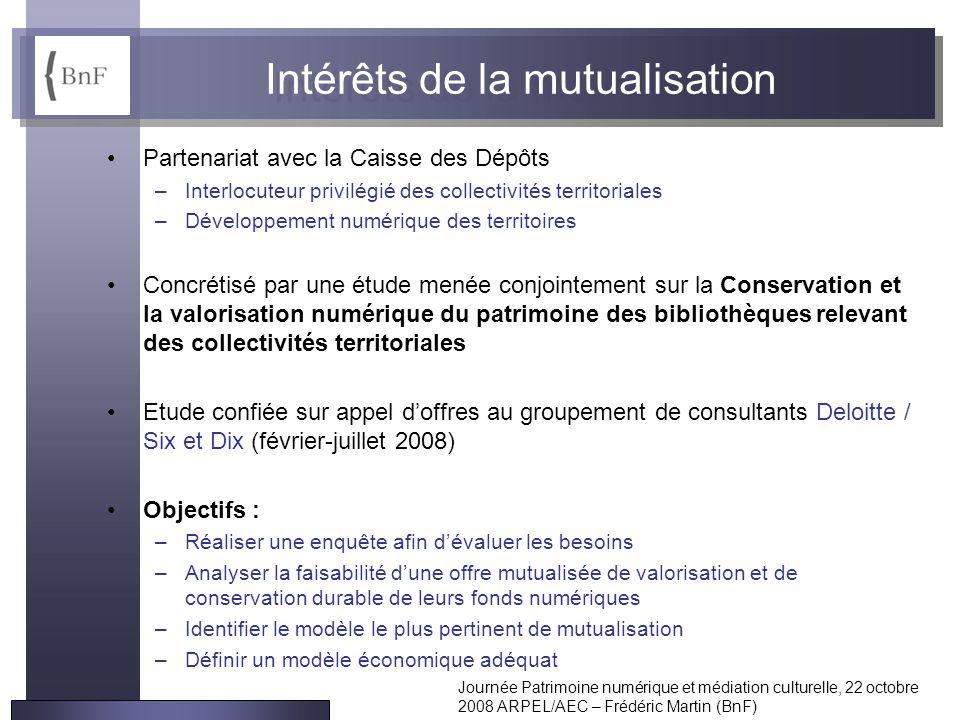 Intérêts de la mutualisation