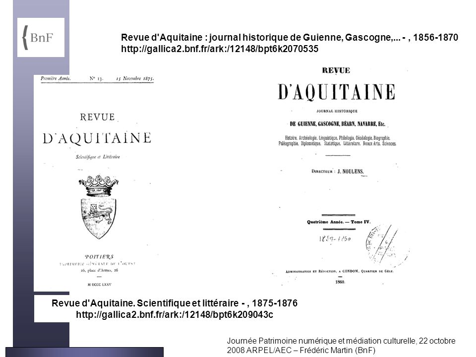 Revue d Aquitaine : journal historique de Guienne, Gascogne,