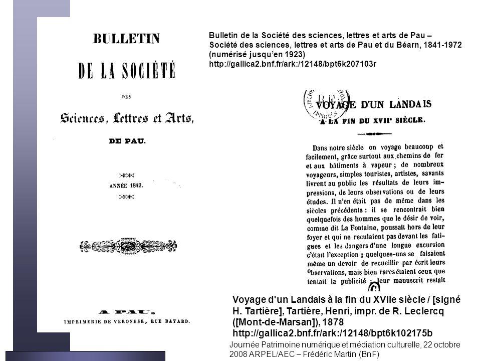 Bulletin de la Société des sciences, lettres et arts de Pau – Société des sciences, lettres et arts de Pau et du Béarn, 1841-1972