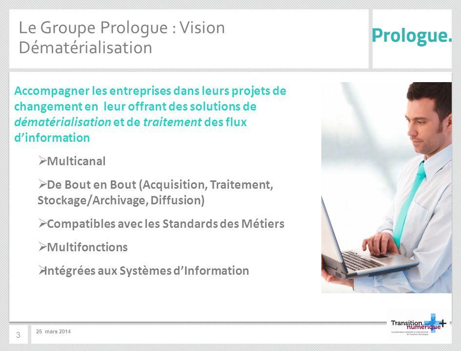 Le Groupe Prologue : Vision Dématérialisation