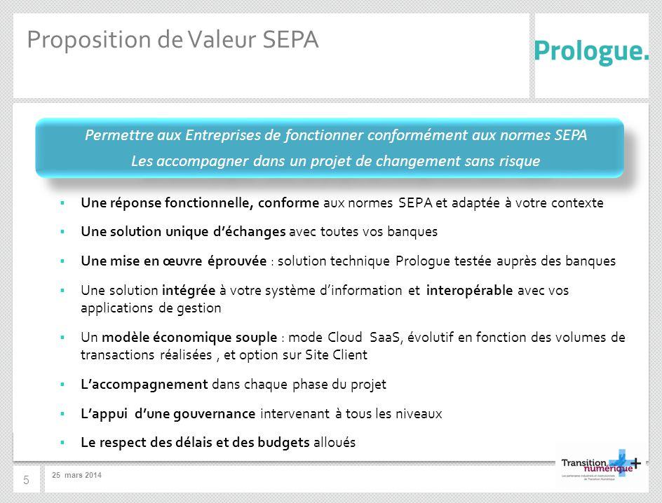 Proposition de Valeur SEPA