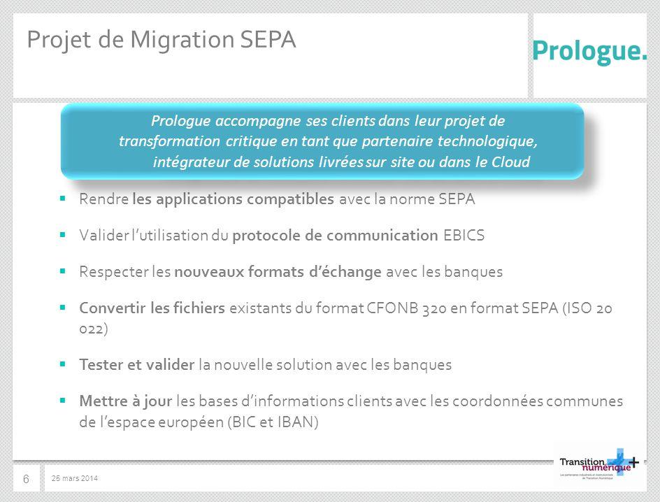 Projet de Migration SEPA