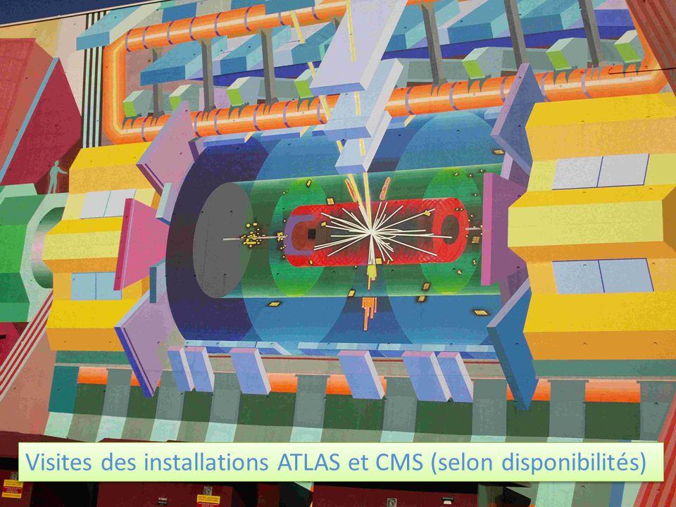 Visites des installations ATLAS et CMS (selon disponibilités)